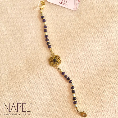 Boho Natural Stone Bracelet - Lotus