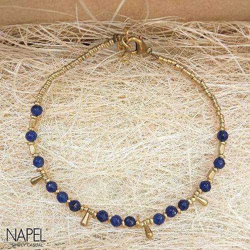 Natural Stone Anklet Blue
