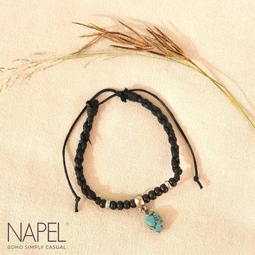 Boho Leather Bracelet - Stone