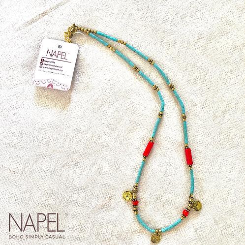 Boho beads necklace - Spiral