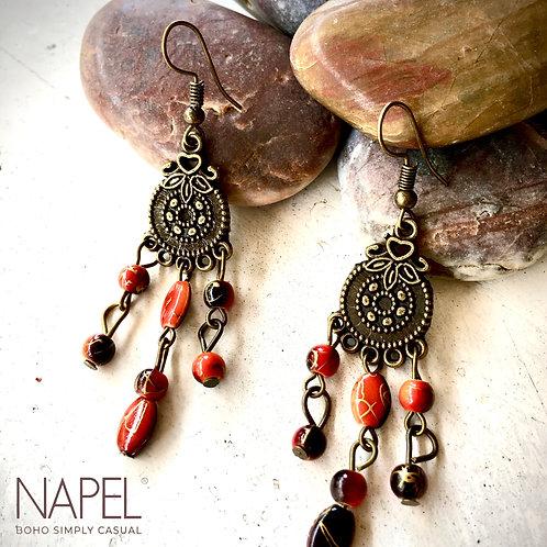 Boho Bronze Earring - Mandala