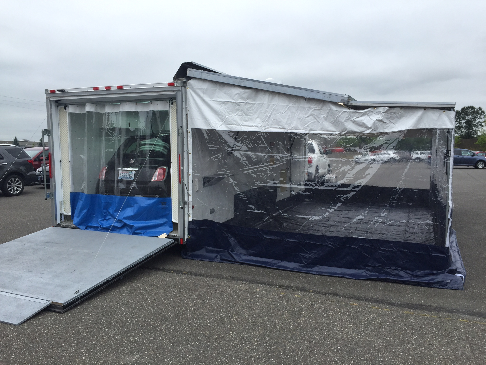 Mobile Paint Booth With Awning