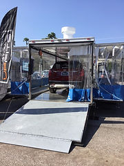 paint booth trailer