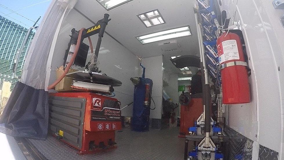 Mobile Wheel And Paint Repair Trucks Trailers Vans