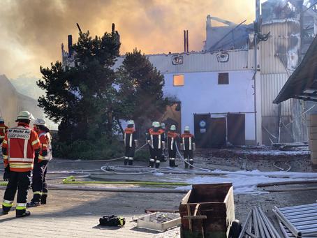 Brand Hopfenhof in Kleingründling