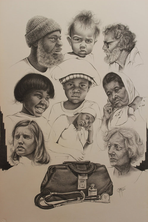 """Impressions 8 / Pencil Painting / 10""""x 14"""""""