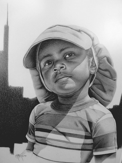 Dad's Cap / Pencil Painting