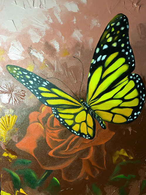 Monarch / Oil Painting / 10.5 x 13.5
