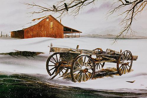 "Nostalgic Winter Place / Watercolor / 18""x 24"""