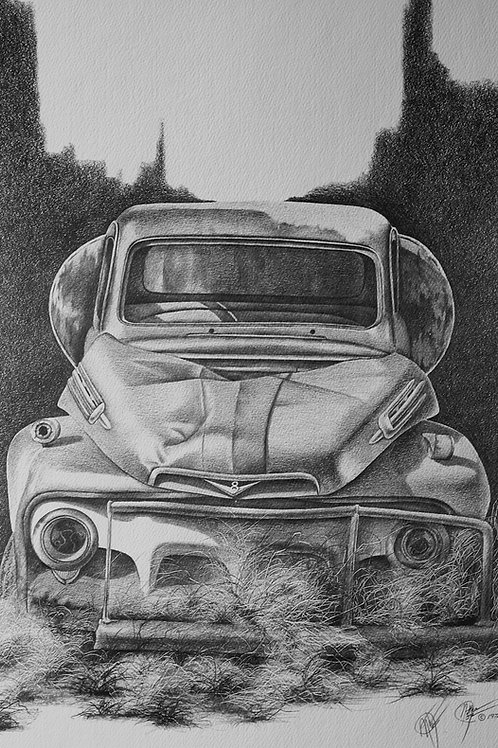 """Abandoned / Pencil Painting / 14""""x 18"""""""