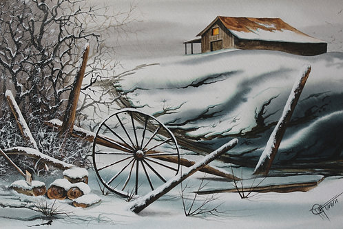 """Country Side / Giclee / 7""""x 11"""""""