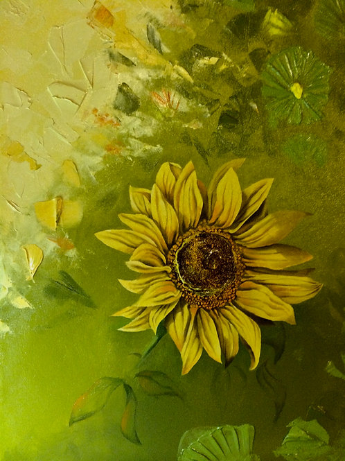 """Sunny / Oil Painting / 10.5""""x 14.5"""""""
