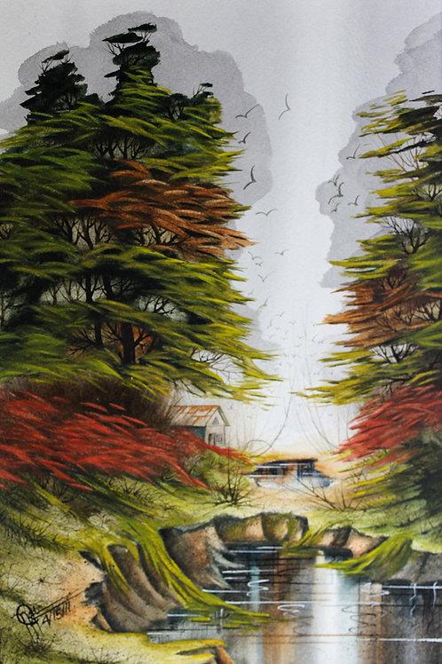 Louisiana Autumn / Watercolor