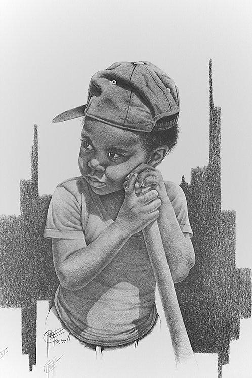 """Little League I / Pencil Painting / 13""""x 19"""""""