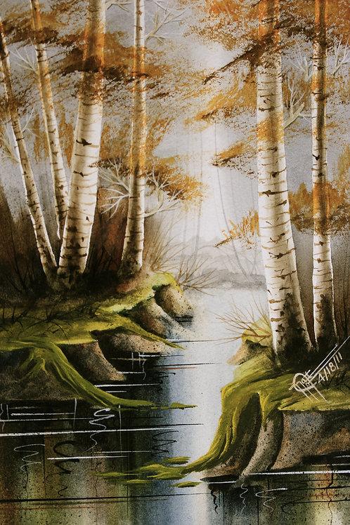 """Colorado Aspens / Watercolor / 6""""x 10"""""""