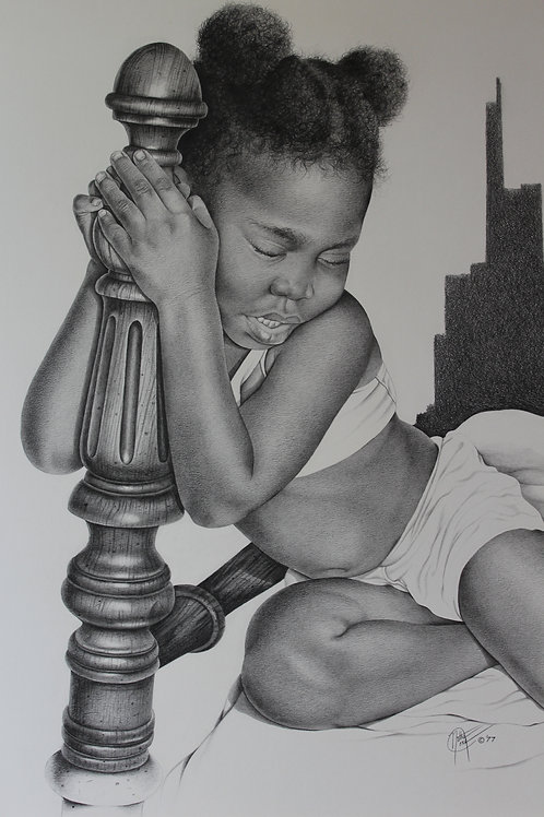 Irresistible Sleep / Pencil Painting