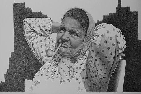 Momma Clara / Pencil Painting
