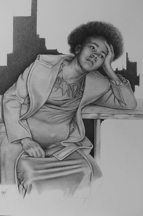 "Impregnated / Pencil Painting / 30""x 40"""