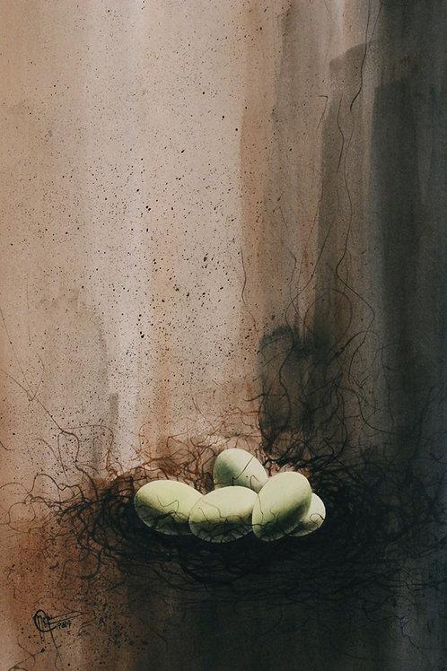 """Birth / Watercolor / 12""""x 18"""""""