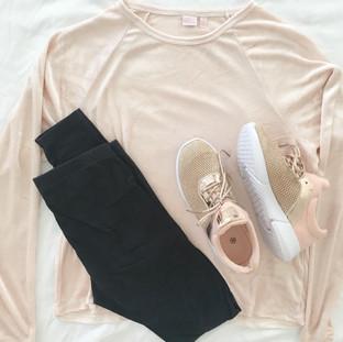Blush Pink Velour Top