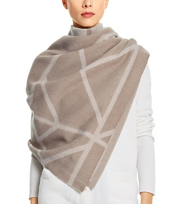 Tory Burch Fret Jacquard Blanket Scarf $350