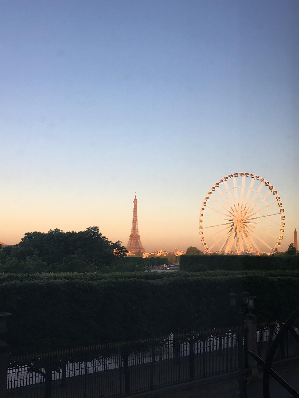 golden hour eiffel tower