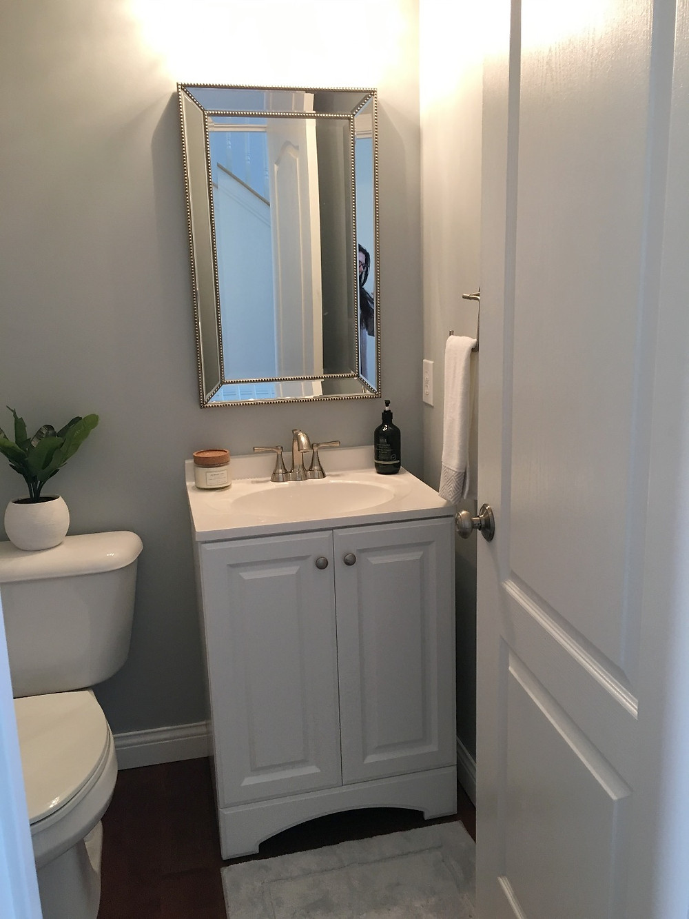 powder room renovation after