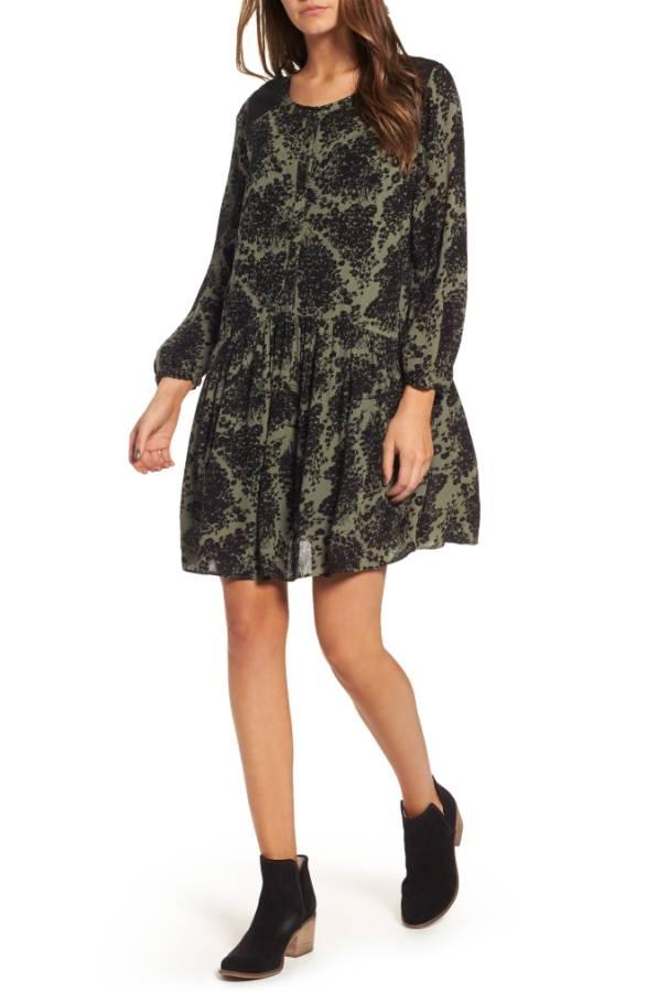 Hinge Button Front Dress