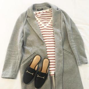 Grey & Stripe Tee Spring Look