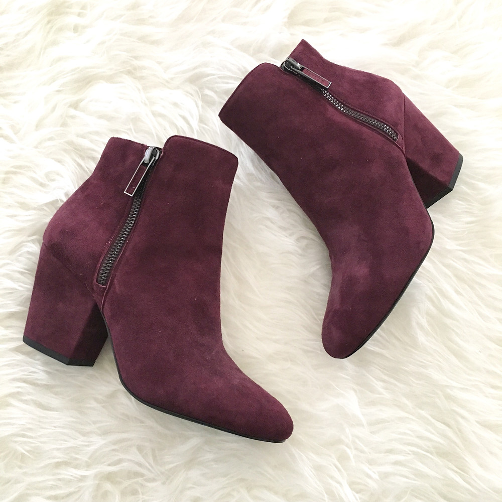 oxblood ankle booties