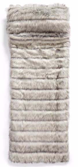 faux fur sleeping bag