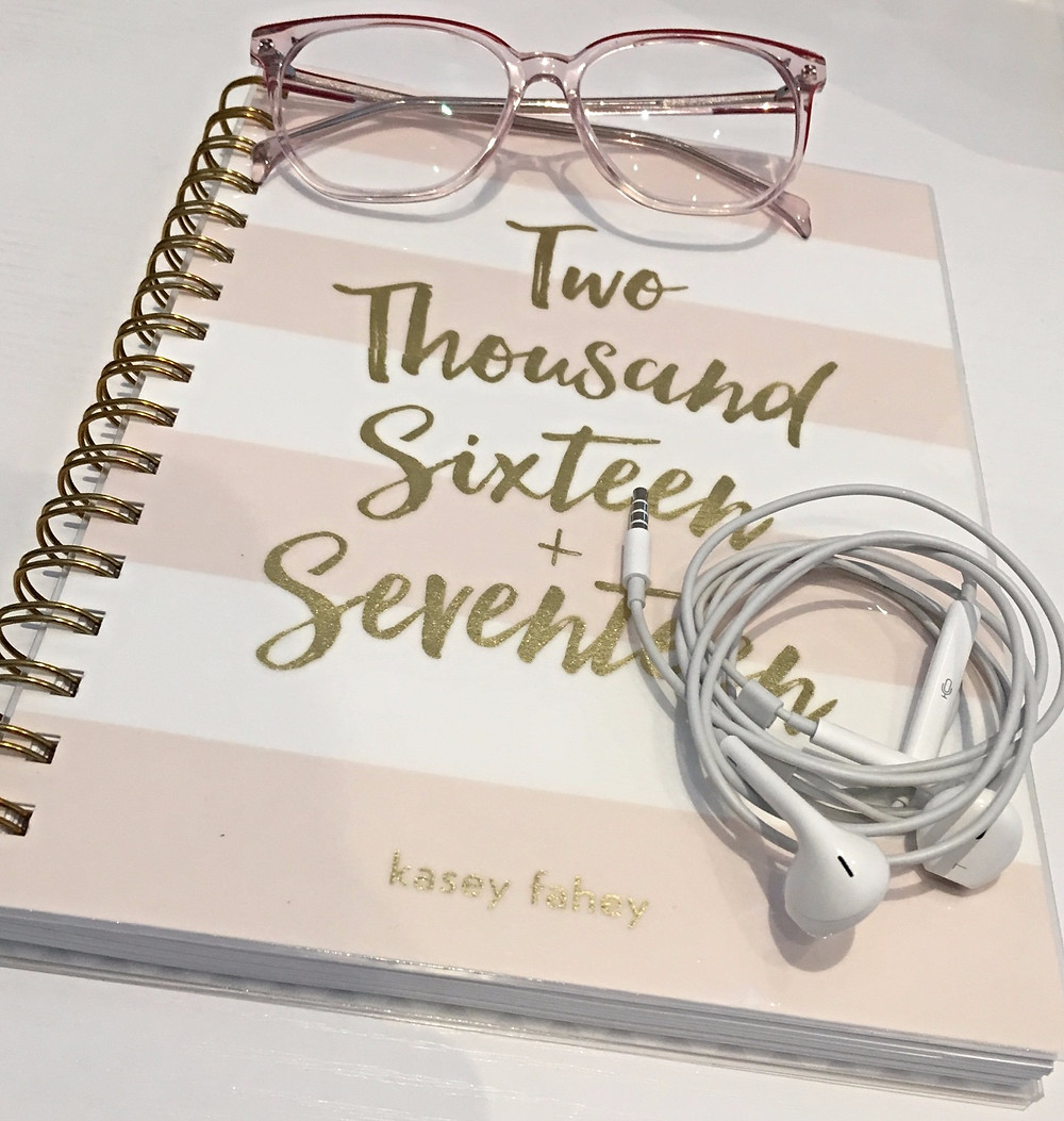 Planner, Glasses, Earbuds