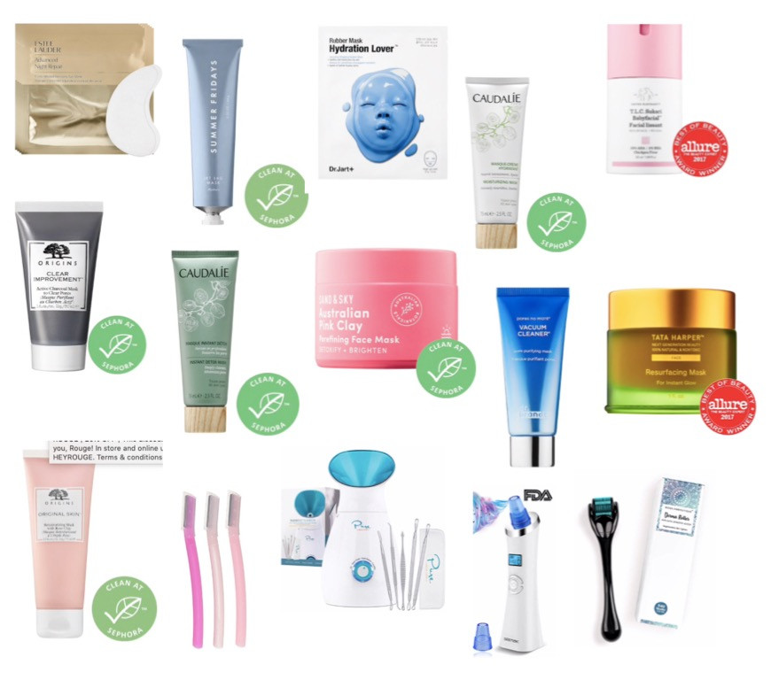 face masks and tools