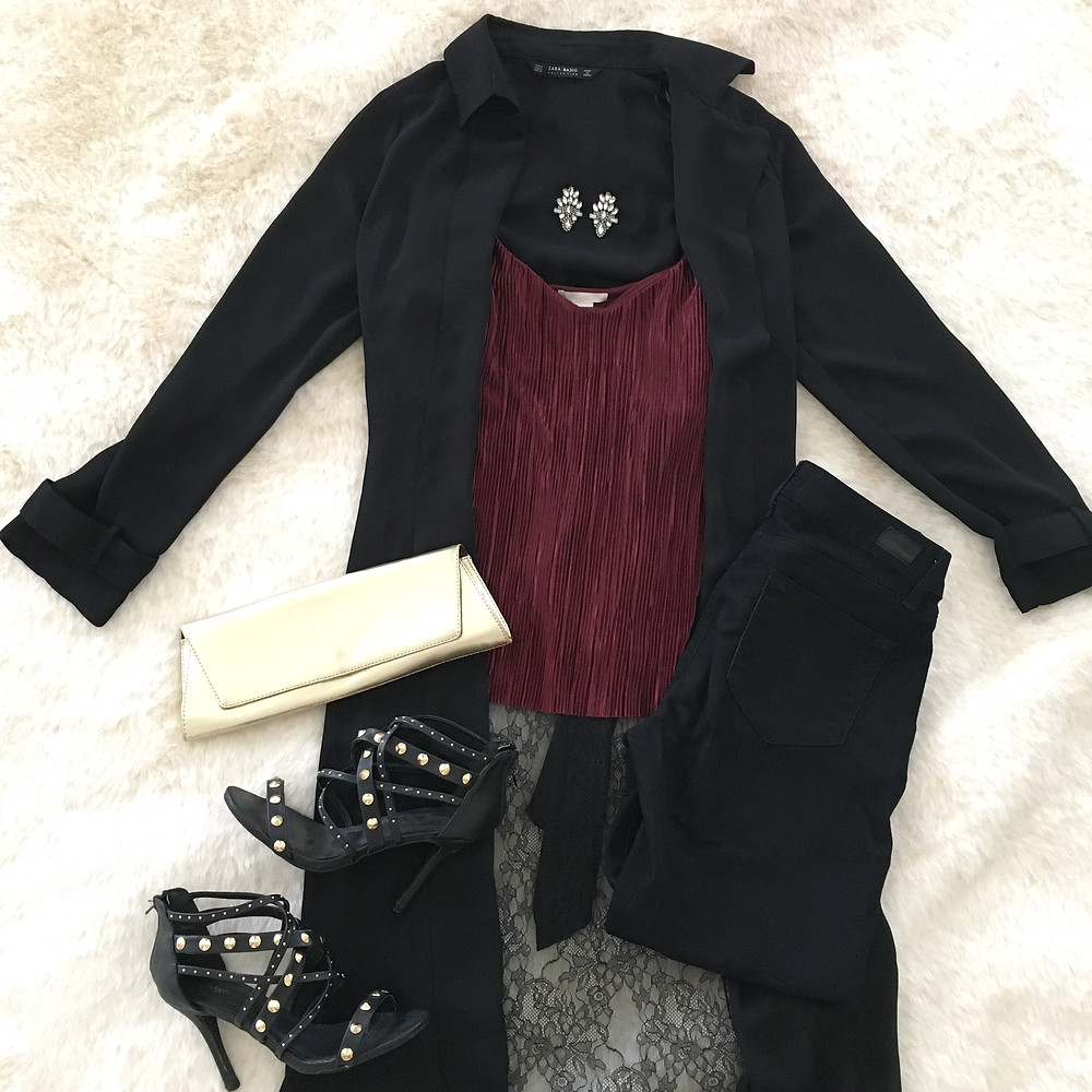 black denim and duster outfit