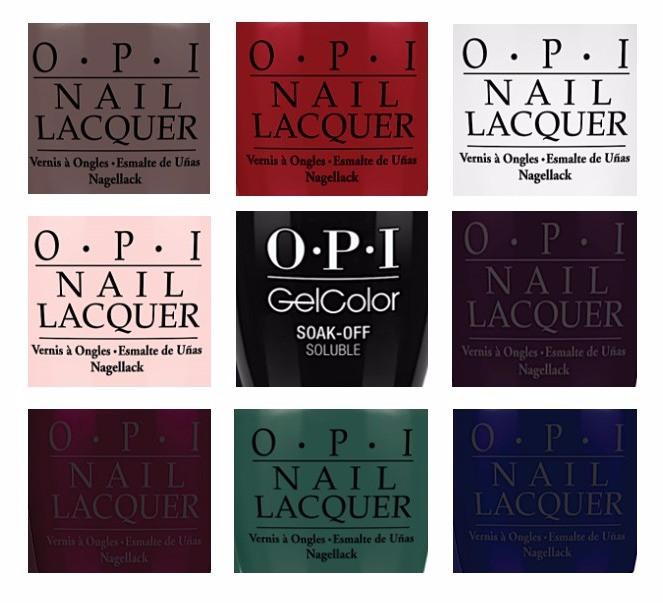 OPI Fall Nail Colors