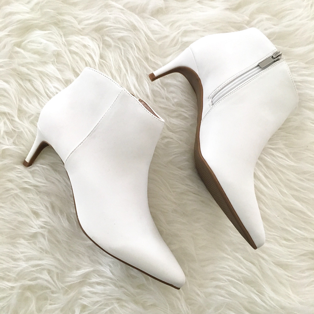 white fall booties