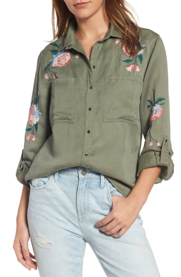 Channing Embroidered Military Shirt