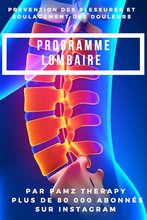Programme Lombaire