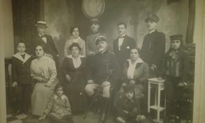 fotografia di famiglia di Epoca Risorgimentale