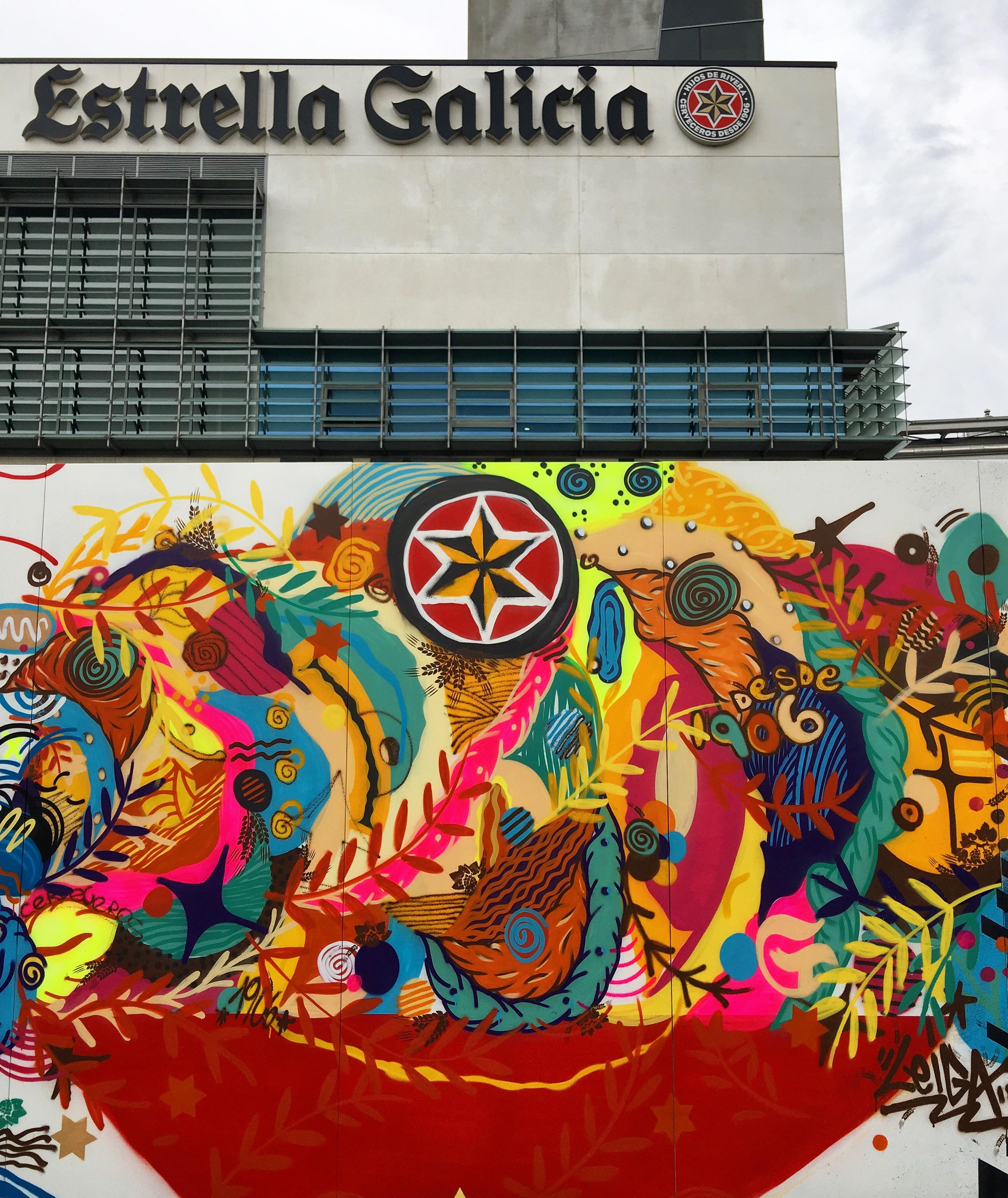 Mural na fabrica da Estrella Galicia