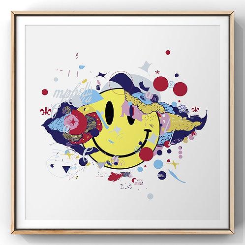 Bubbles Smile - Print (emoldurado)