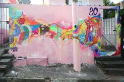 Graffiti feito no encontro homenagem
