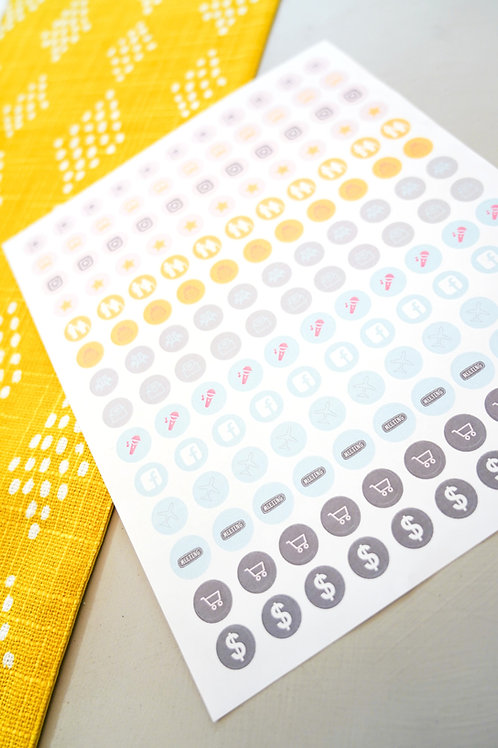 Custom-designed Planner Stickers