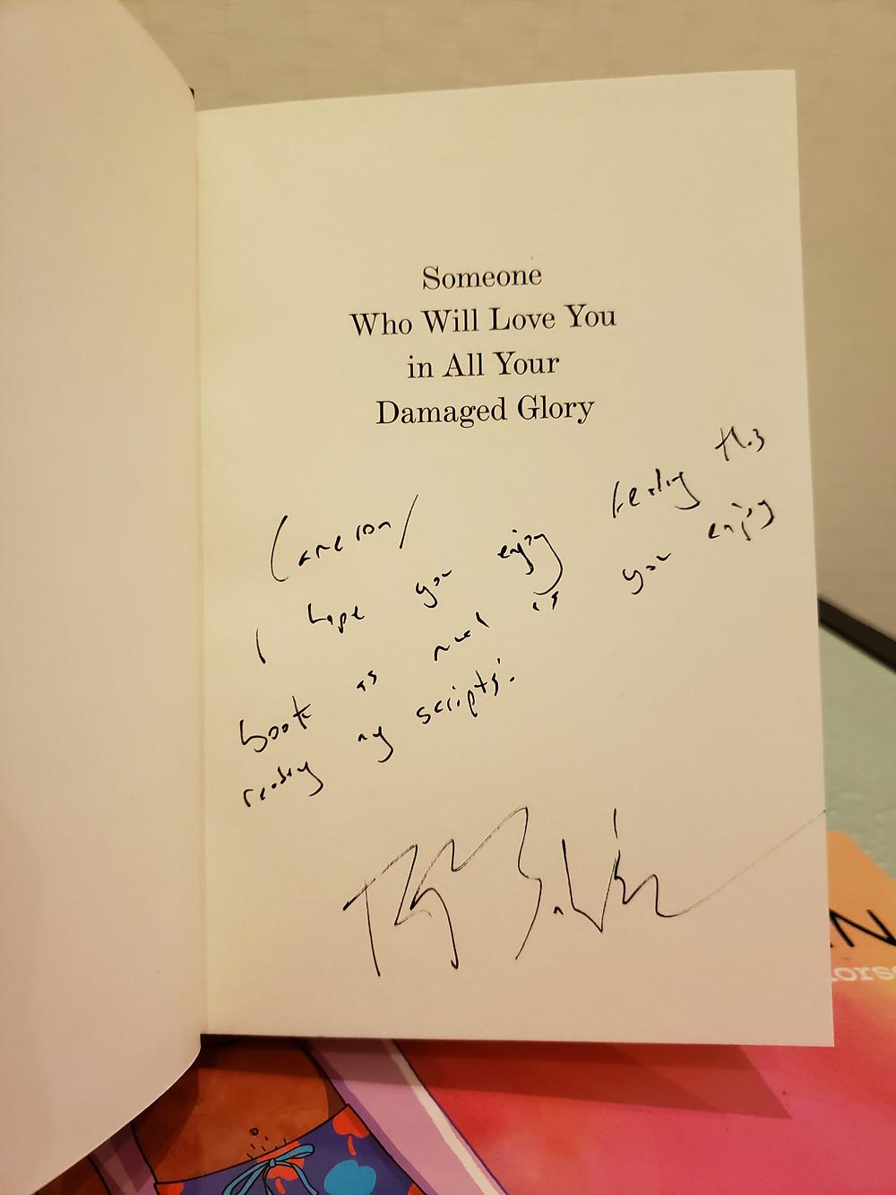 Signature from Raphael Bob-Waksberg