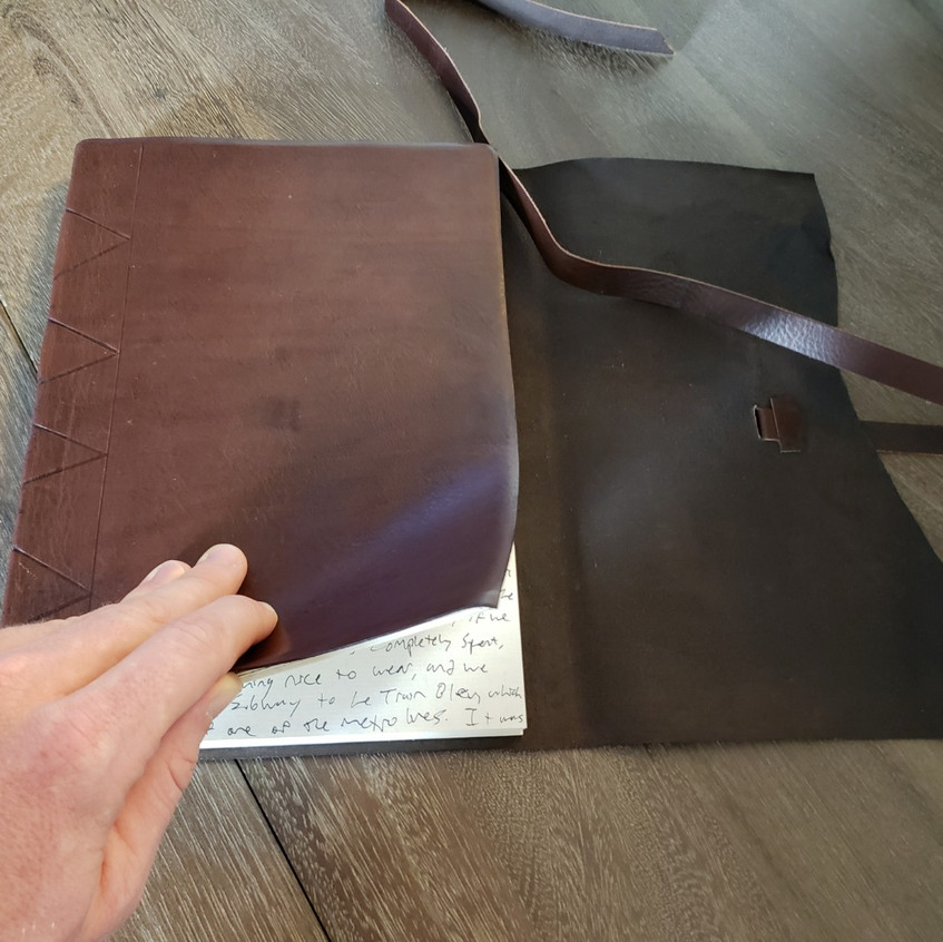 My lovely leather journal.