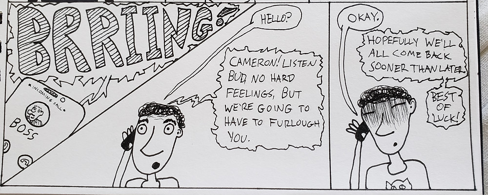 A panel from the upcoming Cameronavirus comic