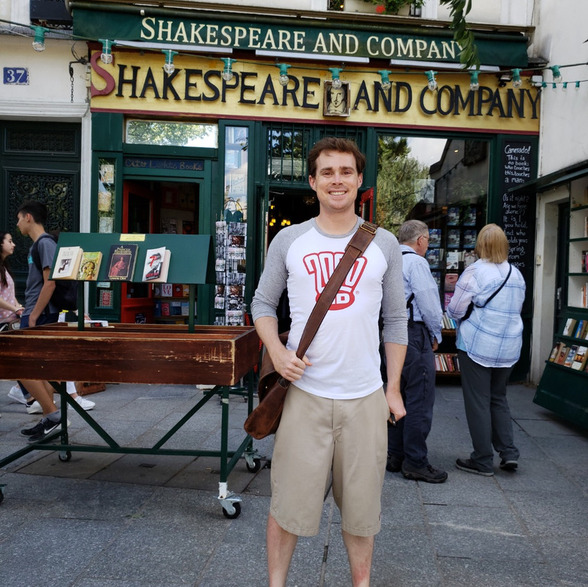 Shakespeare and Company book store.