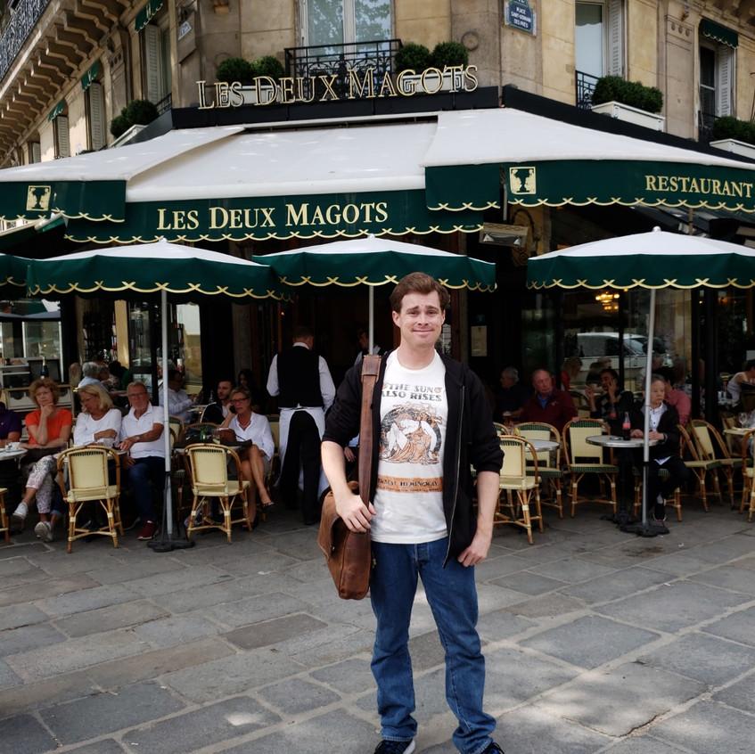 Les Deux Magots cafe.