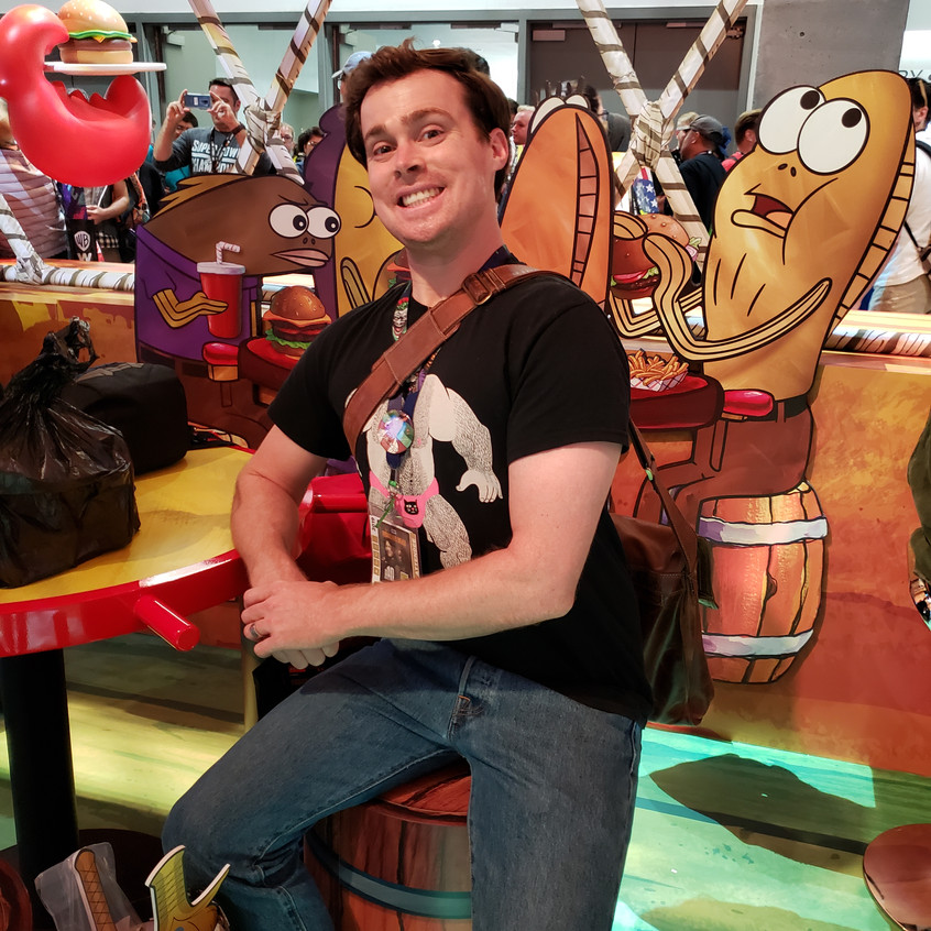 Visiting the Krusty Krab