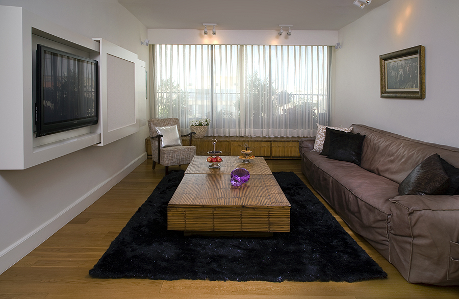 עיצוב רהיט לטלויזיה בסלון